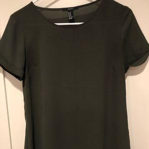 Forever 21 Green Short Sleeve Top